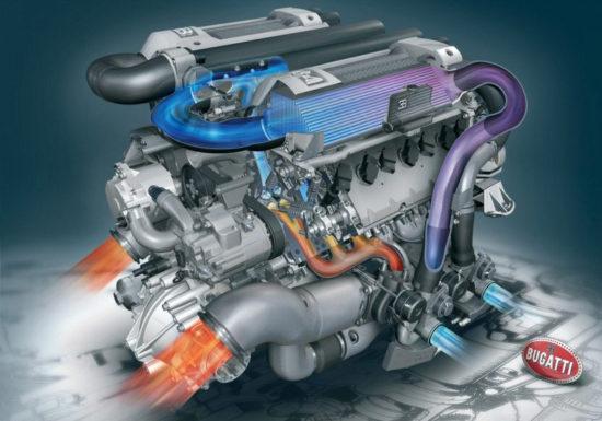 W16 motor iz Veyrona EB 16.4 (Bugatti Automobiles S.A.S.)