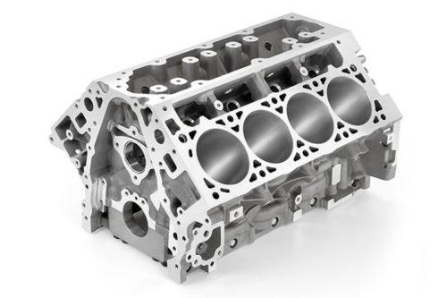 Aluminijumski blok 6,2-litrenog V8 motora LT-1 iz Corvette Stingray (General Motors)